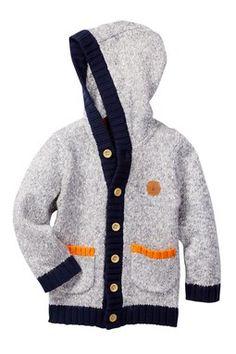 Lumberjack Long Sleeve Hooded Cardigan (Toddler, Little Boys,