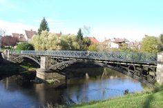 Pont de Bourguignon-les-Conflans sur la Lanterne (Haute-Saône) Un des deux derniers ponts de type Polonceau en France