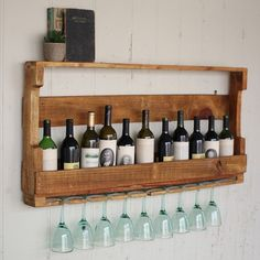 DIY Wine Rack From a Wood Pallet