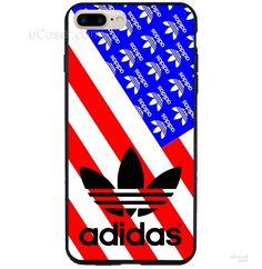 Adidas Logo Amarican flag iPhone Cases Case
