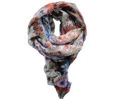 Foulard modal et soie imprimé fleuri - Modèle BRESCIA à découvrir sur Saheline.com | Saheline.com