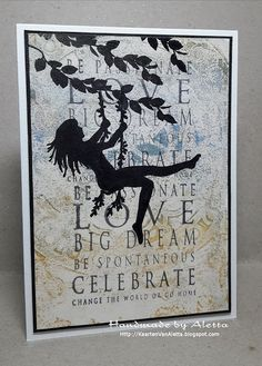 Art Journey Design-team: Silhoutte stamping