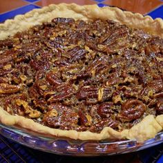 "Favorite Bourbon Pecan Pie | ""This is a pecan pie you won't want to forget. Bourbon gives this pie its delicious and distinctive flavor."" via Allrecipes Pie Countdown"