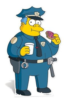 Police Chief Wiggum Lifesize Cardboard Cutout / Standee (The Simpsons) Life Size Cutouts, Life Size Cardboard Cutouts, Simpsons Drawings, Simpsons Art, Chief Wiggum, Police Tattoo, Sticky Vinyl, Simpsons Characters, Bild Tattoos