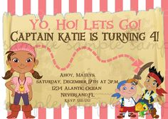 pirate girl invite