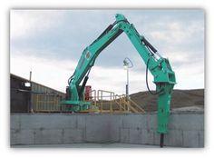Serminter venta de brazos con pedestal para martillos hidráulicos montabert