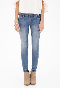 Classic Faded Skinny Jeans | FOREVER21 - 2055879413