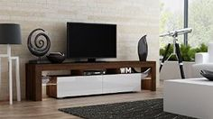 Tv Console For Modern Living Room Walnut White Kitchen Dining