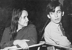 The great chilean musicians Violeta Parra and her son Angel Parra