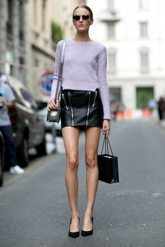 MFW SS15: Best Model off duty streetstyle looks | Model Approved Blog