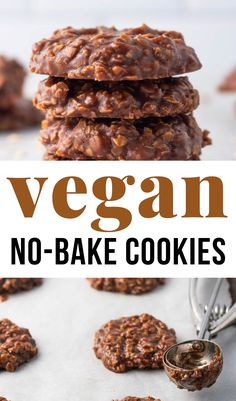 The Vegan No-Bake Cookies are the perfect recipe combining delicious Chocolate and Peanut Butter with oats. A hit with both kids and adults.