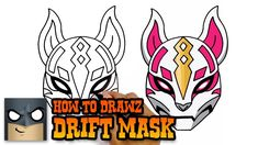 Learn How to Draw the Drift Mask from Fortnite. Visit my Official Merch Store and grab yourself a cool shirt designed by me: Grab your paper, i. Easy Animal Drawings, Realistic Drawings, Easy Drawings, Pencil Drawings, Drawing Lessons For Kids, Drawing For Beginners, Drawing Classes, Drawing Tutorials, Kids Cartoon Characters