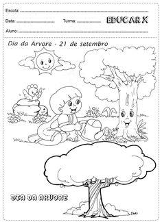 Educar X: Atividades dia da árvore para colorir                              …