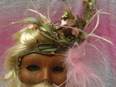 Part of the Woodland Collection - Mother Nature masquerade mask  http://romanticdesires@etsy.com