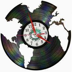 Ceas disc vinil handmade - MUSIC WORLD