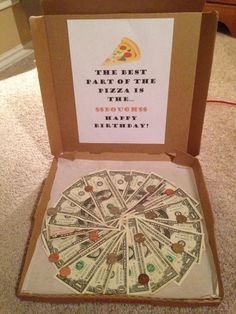 Money Pizza - DIY Christmas Gift Ideas for Kids