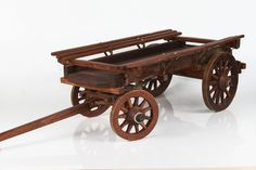 Open ox wagon or trailer.