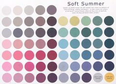 From Elea Blake: The Soft Summer Color Palette~ please do take in to consideration that the colors may vary slightly from the original due to the translation from the canvas to your computer screen.