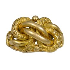 Victorian Gold Lovers Knot Ring. United Kingdom CREATION DATE: Hallmarked 1866