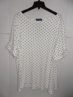 0785d2face8 WTC7544 Karen Scott Women s Plus White Boat Neck Dotted Top NWT Size 3X   fashion   · Clothes For WomenClothingLinkColorFashion OutfitsAccessoriesKaren  ...