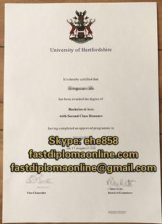 university of hertfordshire degree certificate