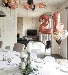 Perfect Balloon decoration set in rose gold for birthday. Perfect Balloon decoration set in rose gold for birthday. Perfect Balloon decoration set in rose gold for birthday. 21st Birthday Decorations, Adult Birthday Party, Birthday Crafts, Birthday Woman, Birthday Party Themes, 20th Birthday, Adult Party Decorations, Birthday Presents, Balloon Birthday