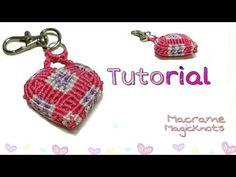 How to Make 3D Macrame Heart Keychain /Tutorial