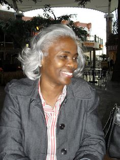 curlynikki.com Going Gray Gracefully, Aging Gracefully, Natural Hair Care, Natural Hair Styles, Grey Hair Don't Care, Silver Grey Hair, Ageless Beauty, Hair Journey, Beautiful Black Women