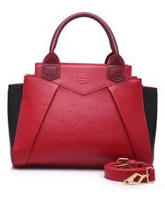 Love this Red Wine Crescent Leather Satchel on #zulily! #zulilyfinds