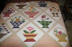 Basket quilt done in civil war fabrics