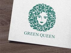 Green Queen Logo by IKarGraphics on @creativemarket