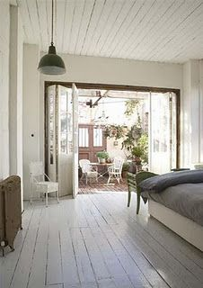 open to courtyard. . . love.