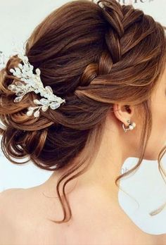 Bridal hair comb boho wedding hair vine baby breath hair piece for wedding rose gold ornaments tocado novia bohemian hair accessories 27 atemberaubende hochzeit frisur inspirationen atemberaubende frisur hochzeit inspirationen Hair Products Online, Wedding Hairstyles For Long Hair, Bridesmaid Hairstyles, Hairstyle Wedding, Wedding Braids, Bridesmaid Hair Updo Braid, Bridal Hair Updo Loose, Mother Of The Bride Hairstyles, Loose Updo