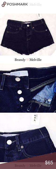 ☼ʙʀᴀɴᴅʏ ᴍᴇʟᴠɪʟʟᴇ ᴄᴜᴛᴏғғsᴺᴬᵛᵞ ᶠᴱˢᵀᴵᵛᴬᴸ ᶠᴿᴬᵞ• BOUTIQUE • \\ʙʀᴀɴᴅʏ ᴍᴇʟᴠɪʟʟᴇ// New navy cut off frayed shorts ::: low rise :::: dark navy/black color ::: Size [23] ::: With tags ::: Never worn ::: Sold out in stores [Spring 16•] ::: Denim• Brandy Melville Shorts Jean Shorts
