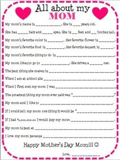 Easy, cute Mother's Day activity for elementary students. Mother's Day craft for students. Mother's Day gift that can be made in the classroom. A great, easy Mother's Day present to make from students to moms. Mothers Day Crafts For Kids, Diy Mothers Day Gifts, Fathers Day Crafts, Mothers Day Cards, Grandma Gifts, Gifts For Mom, Diy Gifts, Parent Gifts, Mother Daughter Activities