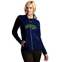 Seattle Seahawks Antigua Women's Leader Full Chest Graphic Desert Dry Full-Zip Jacket - College Navy - $99.99