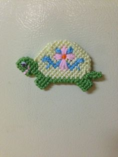 turtle magnet needlepoint plastic canvas