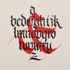 Joan Quirós  Fraktur alphabet #calligraphy #blackletter pic.twitter.com/NRoYkx2UWq