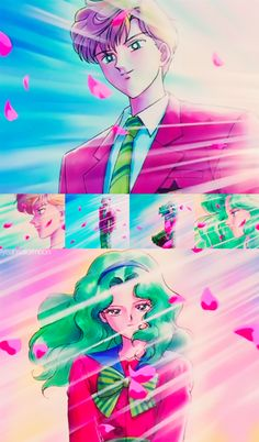 Cue the roses, Haruka and Michiru are in the room.