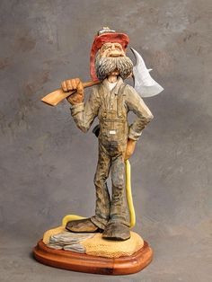 "Wood carving ""fire chief"" by Dwayne gosnell"