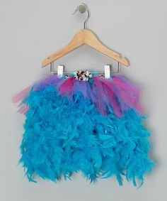 Take a look at this Blue Zebra Feather Tutu - Infant & Toddler by Eterra Couture on #zulily today!