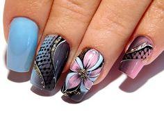 Красивый и простой дизайн ногтей. ТОП удивительные дизайны ногтей Цветок в сетке - YouTube