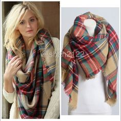 New Tartan Blanket Plaid Scarf Shawl Checked