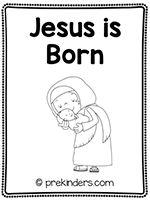 Birth of Jesus Print & Fold Book
