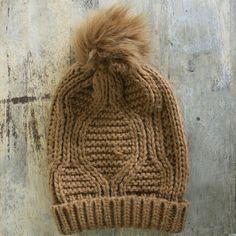 Cozy knit fur pom pom hat Thick cozy knit. Faux fur pom pom. 100% acrylic. Mixit Accessories Hats