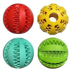 JsMiller 4 Pack Drain Food Ball Dog Chew Toy Nontoxic and safety Read  more http://dogpoundspot.com/dog-luxury-store-2457/  Visit http://dogpoundspot.com for more dog review products