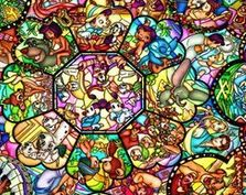Disney Discovery- Stained Glass Disney Doormat