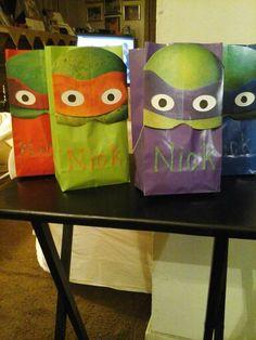 TMNT DIY Party Bags