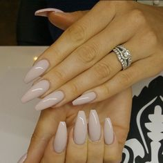 Love this color & the shape of of these nails!  @highonlaxquer Polish from Opi called Don't bossa nova me around