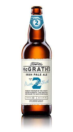 McGrath's premium white ale packaging by Drinksology Guinness, Beer Label Design, Blonde Ale, Beer Brands, Bottle Packaging, Wine And Beer, Wine And Spirits, Packaging Design Inspiration, Design Packaging